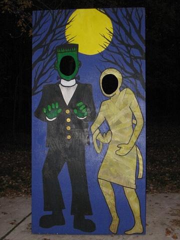frankenstein mummy plywood monster cutout halloween
