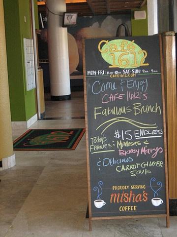 cafe restaurant chalkboard menu sign