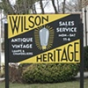 Wilson Heritage Wooden Sign (yellow side)