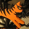 Halloween Leaping Kitty ornament