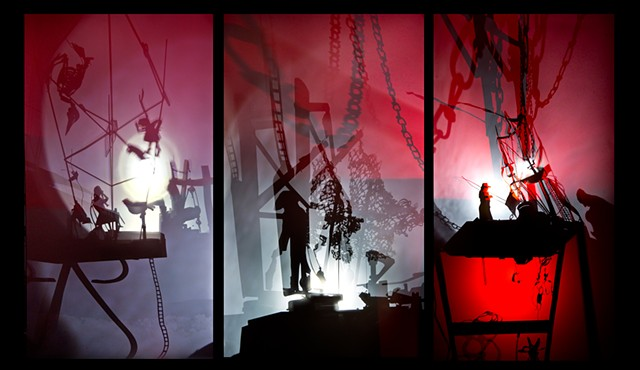 StageFright; animated shadow installation