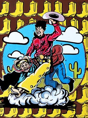 cowboy riding western chaps cowboy hat cowboy boots