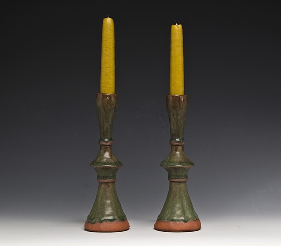 green candlesticks