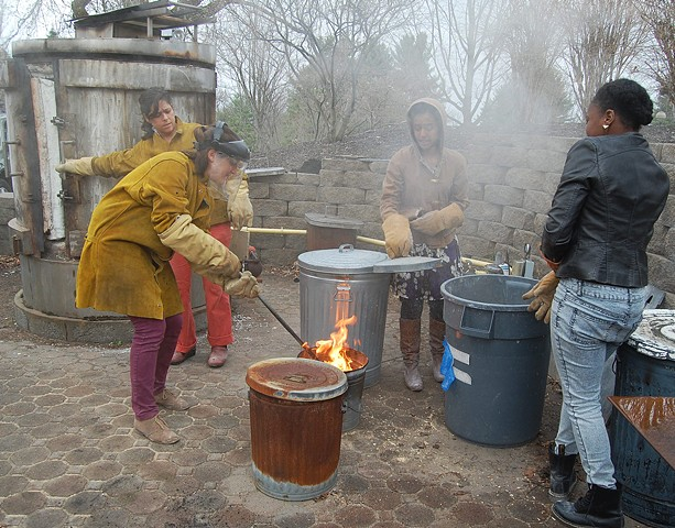 Raku with students