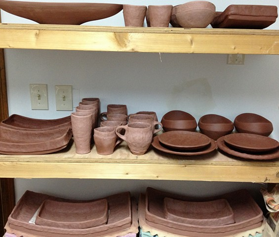 pots in progress