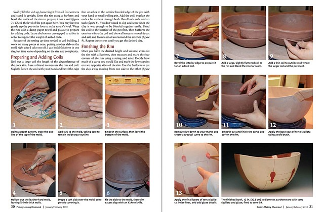 """Page 2 """"Abstract Reflection"""" Pottery Making Illustrated  Jan/Feb 2009"""