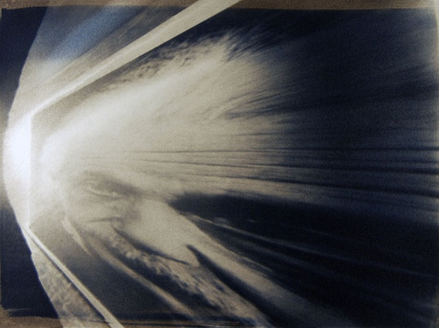 Albert Einstein one pinhole anamorph camera 1988