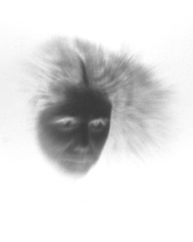 Nancy (negative on paper, transluscent image from her lens self portrait of 1984) 1996