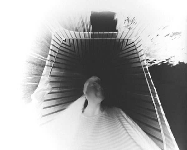 Lori Hellstrom (negative on paper) 160 degree wide angle pinhole camera 1999