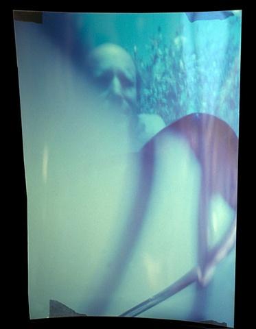 "Self Portrait 1 Pumping Heart Slit/Pinhole Camera Cibachrome slit/pinhole photograph 1988 14""x10"""