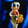 "Betty Boop 1930s Polaroid pinhole photograph 1 pinhole camera 2005	 10""x8"""