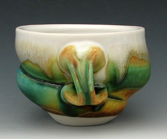 Coffee Cup with Mingling Glazes