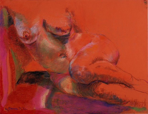 """Orange Odalisque"""