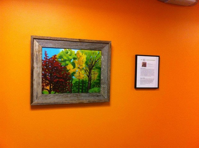 Solo exhibit for public relations firm in Waltham, Massachusetts