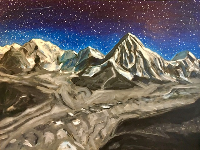 A second artwork by the artist inspired by the Himalayas.