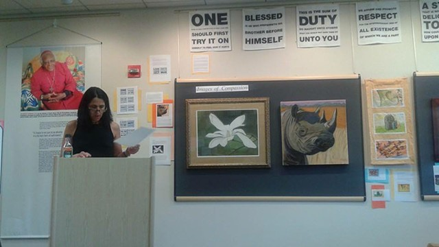 Poetry Reading, Images of the Compassion Project (Endangered Rhino)