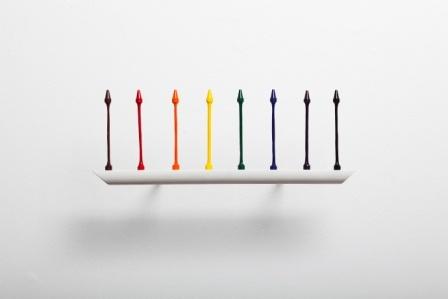 conceptual crayon art, sculpture