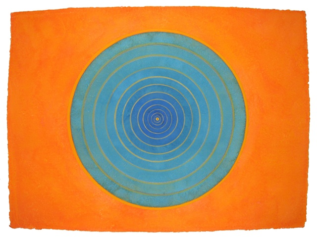Orange Blue Bindu