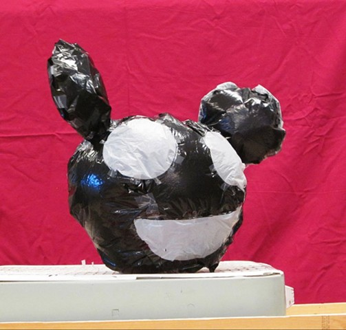 Student Work (deadmau5) Inflatable Sculpture, made from trash