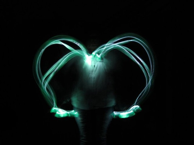 Student Work (peekaboo with her son) Light painting long-exposure