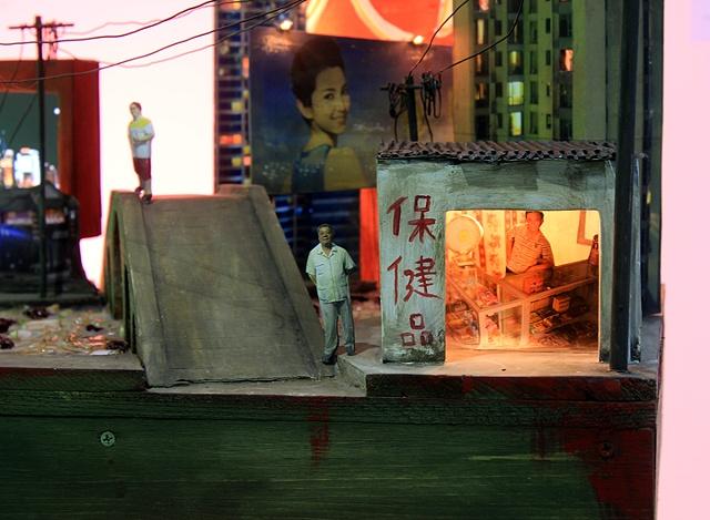 Zhujiashanghai mixed media sculpture with video