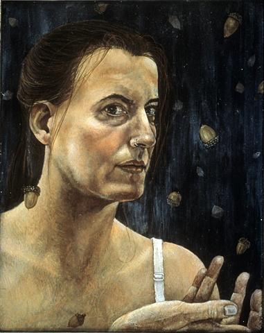 Self Portrait with Acorns