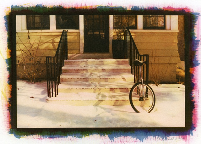 Stoop with Unicycle