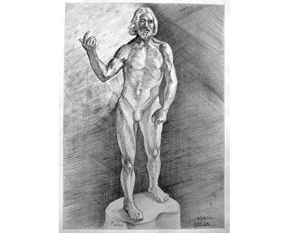 After: Rodin St. John the Baptist Preaching (version two)