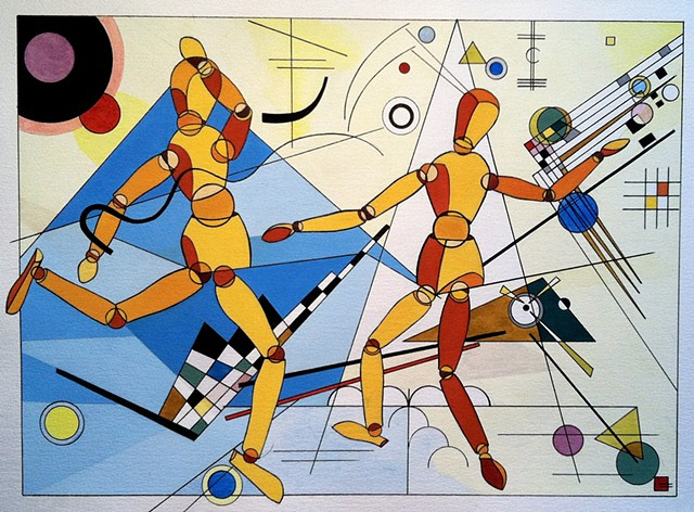 Mannequins Who Love Kandinsky Too Much