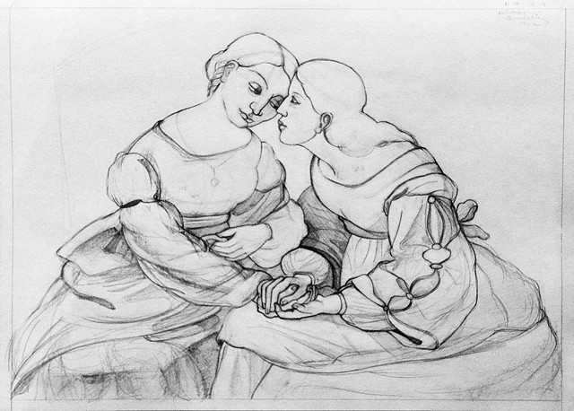 Consoling and Connection  After: Johann Friedrich Overbeck (1789-1869)