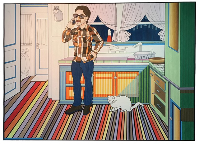 Art Imitating Life Imitating Art, Marc Maron, WTFpodcast, Original Art, Contemporary Art