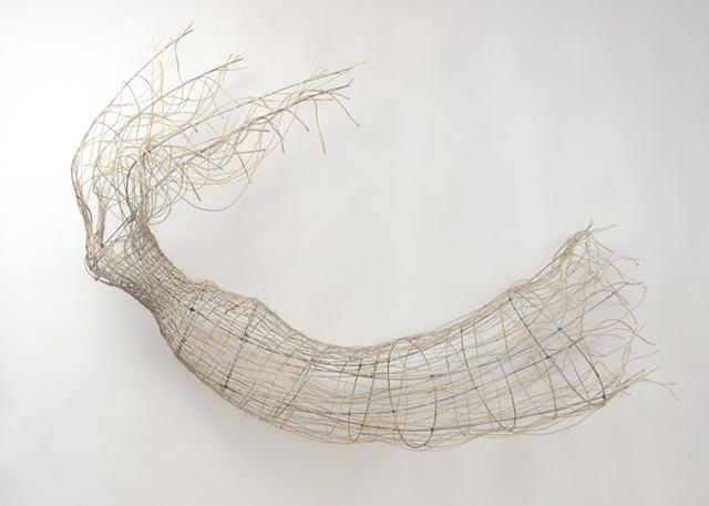 Ziejka art, fiber art, soft sculpture, Ofelia sculpture
