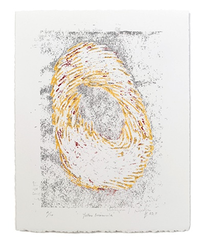 ziejka, screenprint, yellow, insomnia
