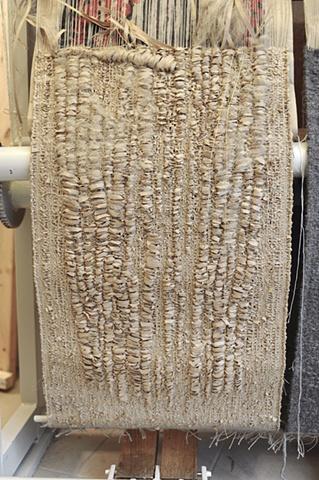 'Beekeeper' paper tapestry in progress
