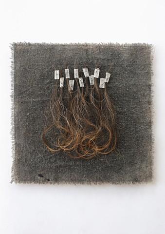 Ziejka art, textile art, fiber art, hair art