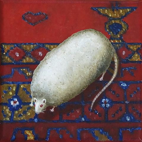 Prize Rat on a Persian Love Mat