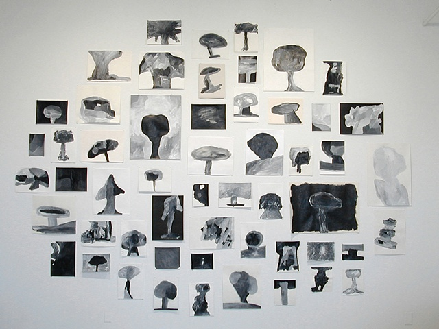 My Failed Drawings, Obliterated Installation view Audiello Fine Art