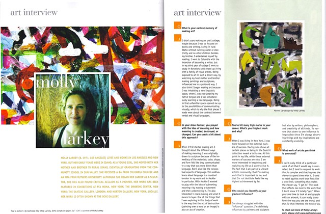 SVPN, Interview with Molly Larkey, August, 2011