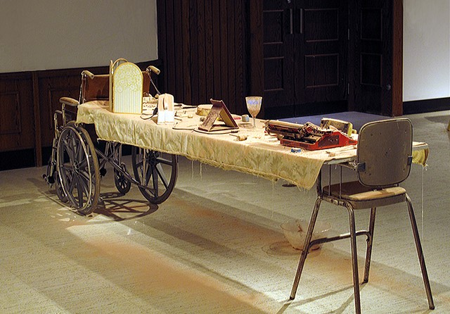 This installation investigates the narrative power of 'left-behind' objects and how they act upon and elicit memory.