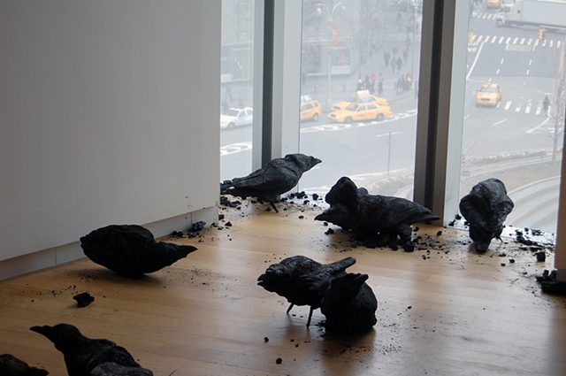 Murder (detail)  (installed at the Museum of Arts and Design, New York)