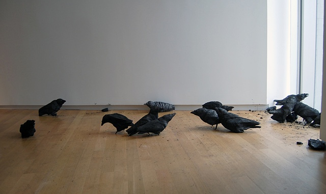 Murder  (installed at the Museum of Arts and Design, New York)