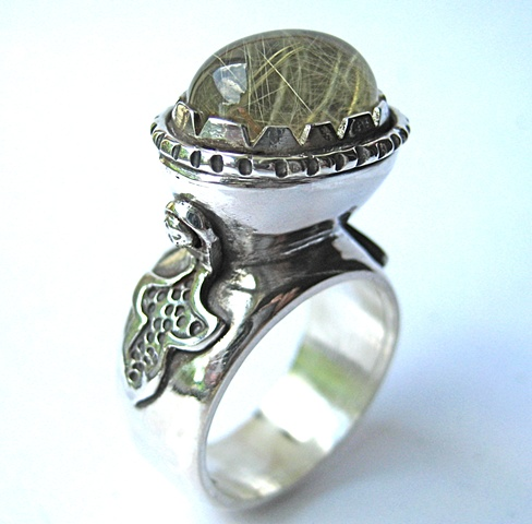 Jewelry Ring Metal jewel sterling stone metalwork polished oxidized magical  sydney australia wedding magic