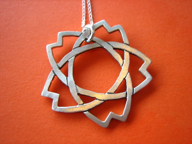 knot,sakura,cherry blossom, japanese, sterling silver, sydney. australia, handmade