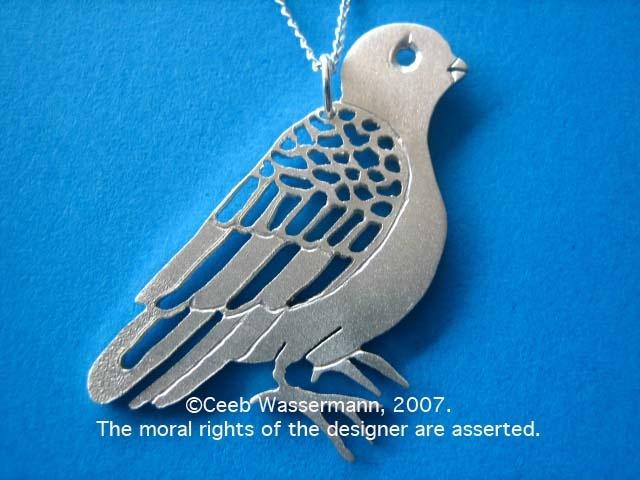 japanese Inspired jewelry jewellery bird sydney australia sterling silver pendant handmade