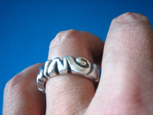 Jewelry Ring Metal water ripple sterling silver metalsmith metalwork indie men women sydney australia wedding engagement