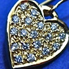 18ctYellowGold Heart Earrings with Pave Diamonds