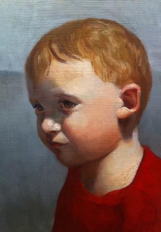 Luke Lyndsea Cherkasky painting oil paint portraits child