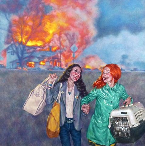 Laughing While Leaving A3 Limited Edition Giclee Print