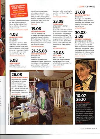 Diva Magazine Aug 2014