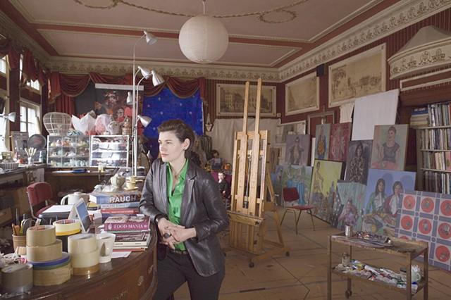 Roxana Halls in her studio